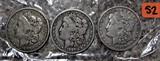 1800, 1887-O, 1921-S Morgan Dollars