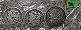 1800, 1885-O, 1921-D Morgan Dollars