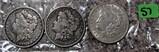 1897-O, 1898, 1921-D Morgan Dollars