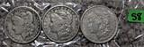 1899-O, 1900-O, 1921 Morgan Dollars