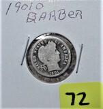 1901-O Barber Dime