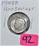 1948-D Roosevelt Dime