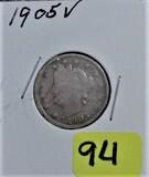 1905 V Nickel
