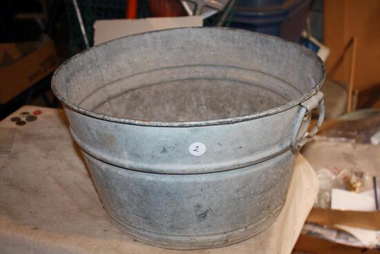Vintage Galvanized Wash Tub