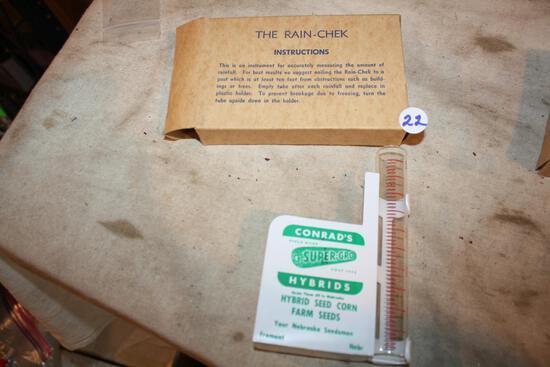 No. 5 Conrad's Super-Gro Seeds Rain Gauge