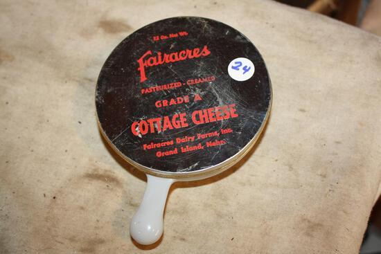 Antique Fairacers Adver. Glass Dish