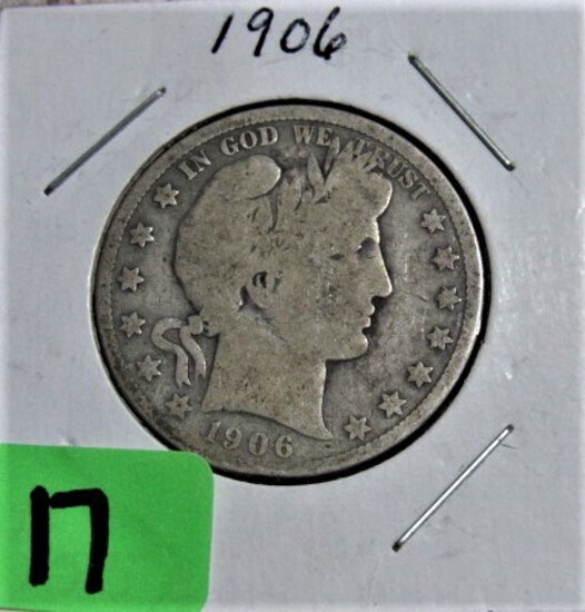 1906-D Barber Half Dollar