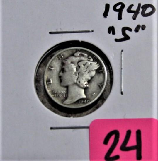 1940-S Mercury Dime