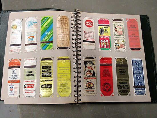 88 Matchboxes in notebook