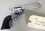 FIE Model E15 .22 caliber revolver