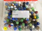 100 Various Colored Marbles