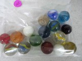 16 large marbles
