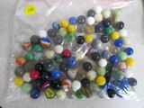 100 various marbles