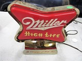 Miller Highlife clamp on sign