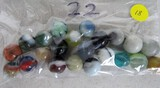 22 Mixed Color Marbles