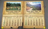 1953 and 1954 Pioneer Valley Bank Sargent Bluffs Iowa calendars