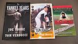 Three baseball hardback books