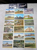 23 1940's airport postcards