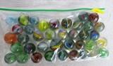 38 swirl marbles