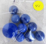 9 blue marbles