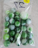 27 green marbles
