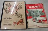 Texaco print and Conaco Touraide