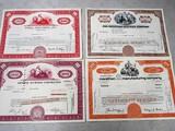 4 stock certificates