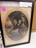 George washington family engraving