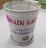 Standard oil metal rain gauge