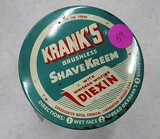 Krank's shave kream Jar and Lid