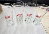 Set of 4 Metz beer glasses