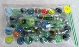 50 various colored marbles