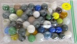 51 solid color marbles
