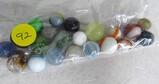 21 vaarious vintage marbles