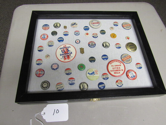 Collection of Pins, mostly presidenial