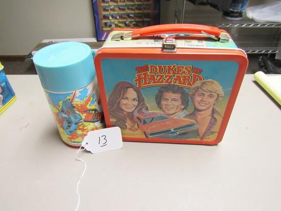 Duke Of Hazard Metal Lunchbox w/ Thermos