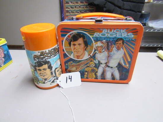 Buck Rogers Metal Lunchbox w/ Thermos