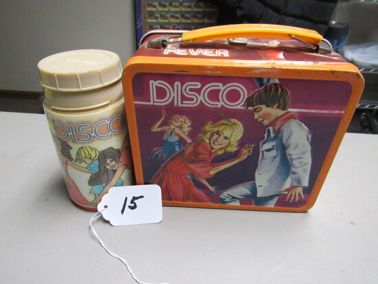 Disco Metal Lunchbox w/Thermos