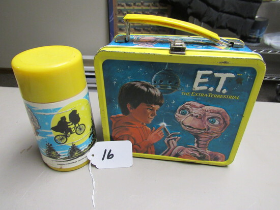 E.T. Metal Lunchbox w/Thermos
