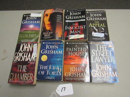 8 John Grisham Paperback Books