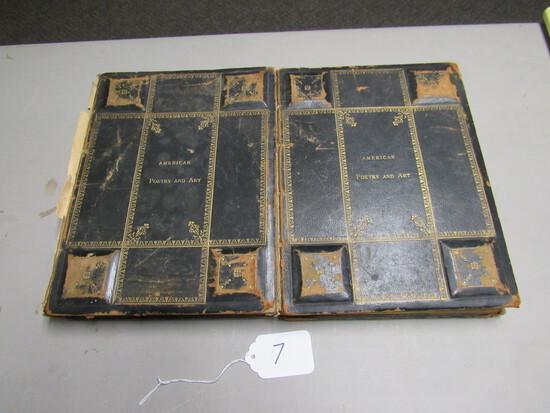 2 Volumes 1880 American Poetry & Art
