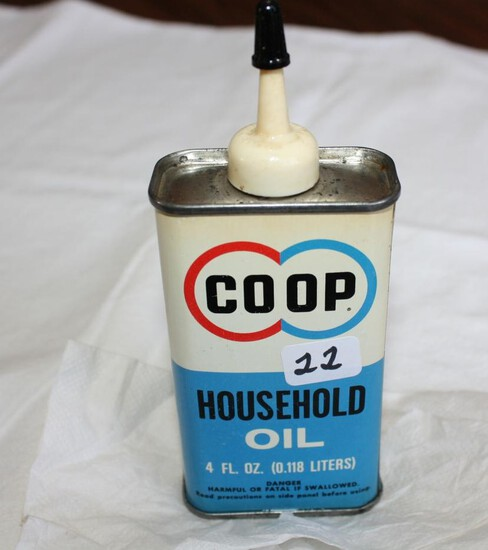 Co-op Household Tin Oil Can