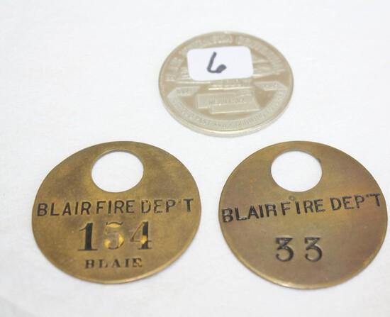 Blair, NE Items - Fire Department, Etc.