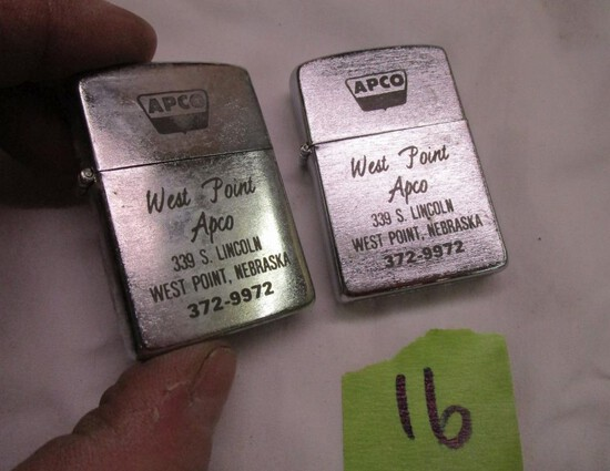 2 Nos APCO Adv. Cigarette Lighters