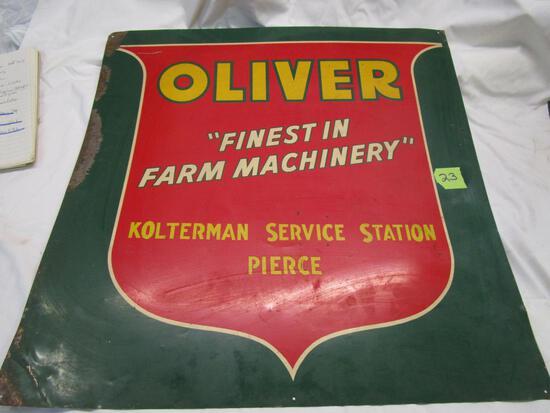 Old Oliver Metal Sign