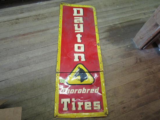 Old Dayton Metal Tire Sign