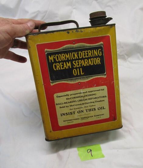 McCormick Cream Separator Oil Tin