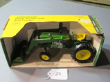 diecast JD utility tractor with front loader W/ box