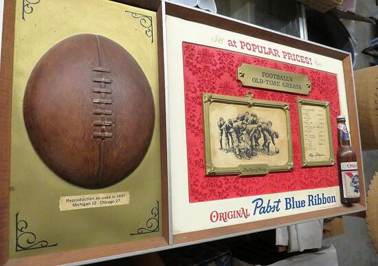 Pabst Blue Ribbon Football Theme Sign