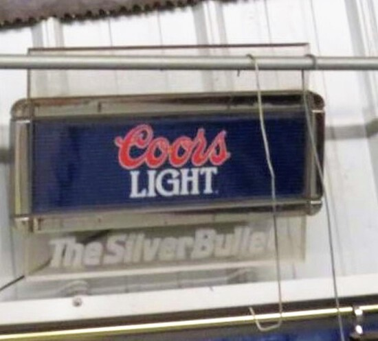Coors Light Silver Bullet Lighted Sign